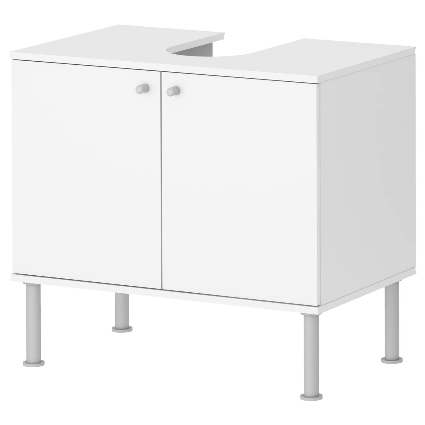 Fullen wash basin base cabinet w 2 doors white 60x55 cm ikea - Badezimmerschrank ikea ...
