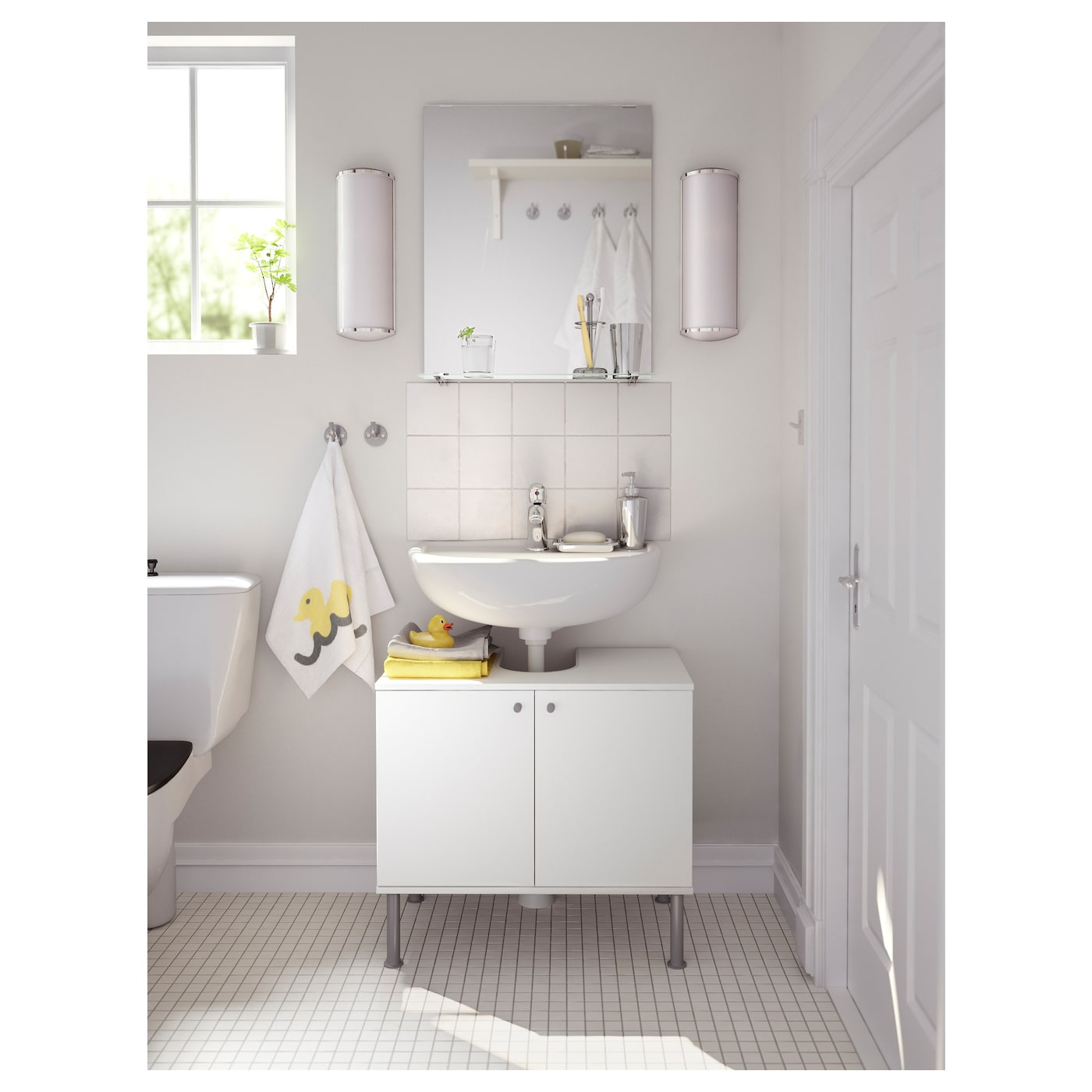 FULLEN Wash-basin base cabinet w 2 doors White 60x55 cm - IKEA