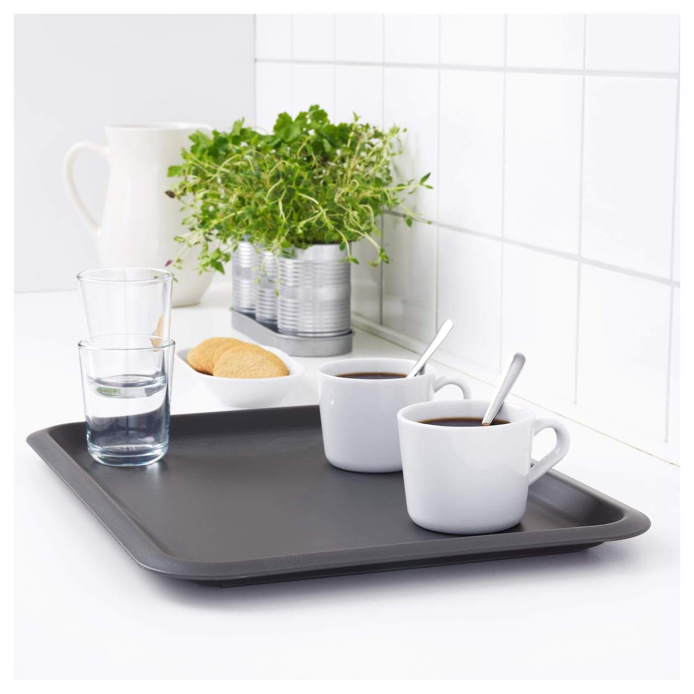 IKEA FUNGERA tray Dishwasher safe and therefore easy and convenient to clean.