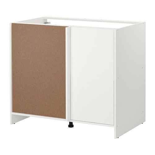 FYNDIG Corner base cabinet IKEA Provides storage and work space in a corner.  The door can be mounted right or left to allow various corner solutions.
