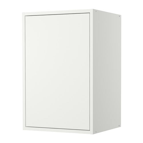 FYNDIG Wall cabinet with door IKEA 1 adjustable shelf; adapt spacing to your own storage needs.