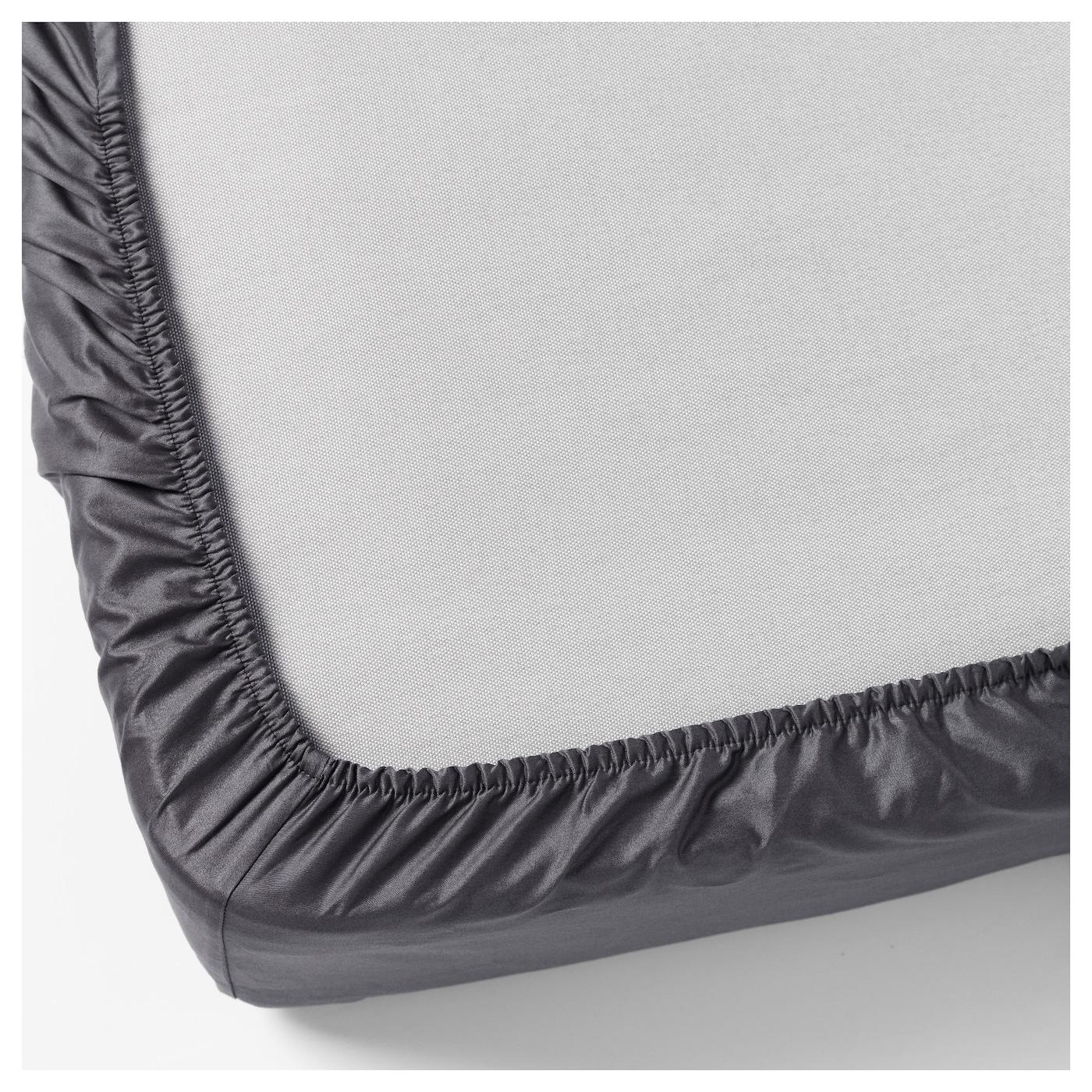 g spa fitted sheet dark grey 140x200 cm ikea. Black Bedroom Furniture Sets. Home Design Ideas