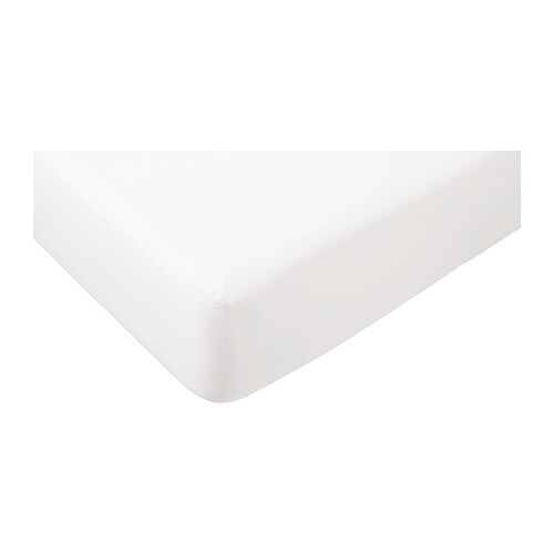 g spa fitted sheet white 140x200 cm ikea. Black Bedroom Furniture Sets. Home Design Ideas