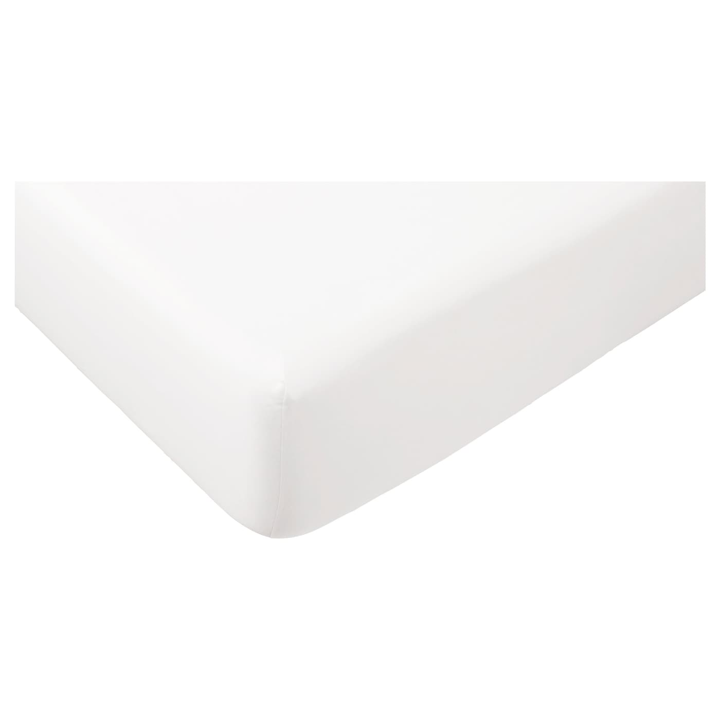 g spa fitted sheet white 160x200 cm ikea. Black Bedroom Furniture Sets. Home Design Ideas