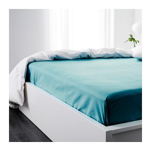 GÄSPA Sheet Turquoise 240×260 cm  IKEA