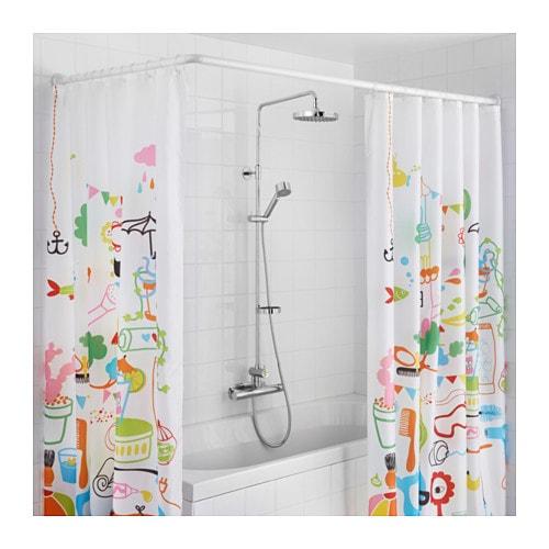 G mmaren universal shower curtain rod white ikea - Tringle rideau de douche ikea ...