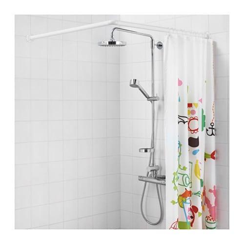G MMAREN Universal Shower Curtain Rod White IKEA