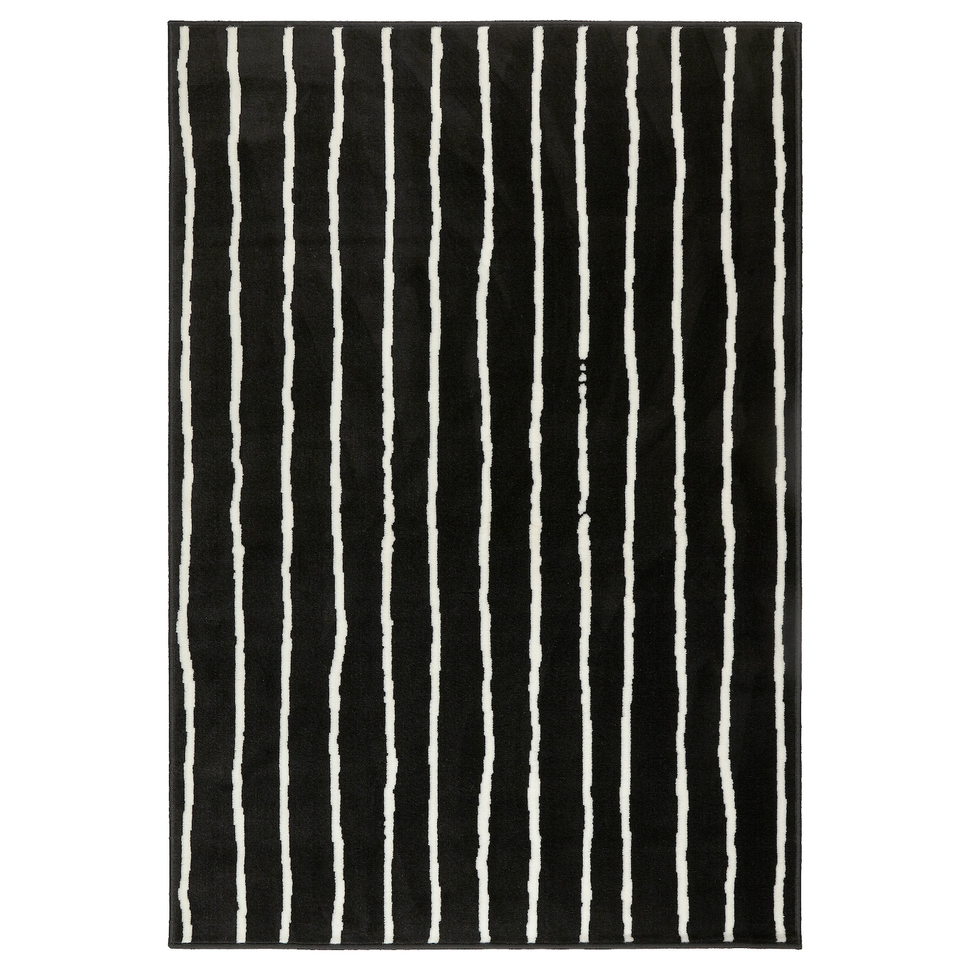 Design Black Rug rug low pile blackwhite 133x195 cm ikea the thick dampens sound and provides a soft surface