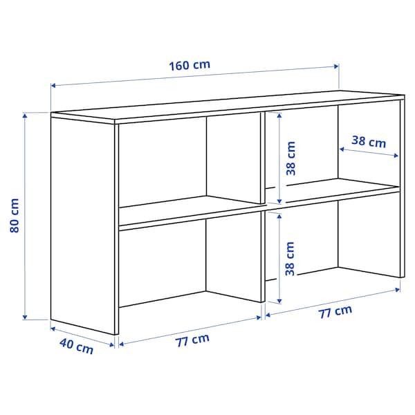 GALANT Add-on unit, oak veneer, 160x80 cm