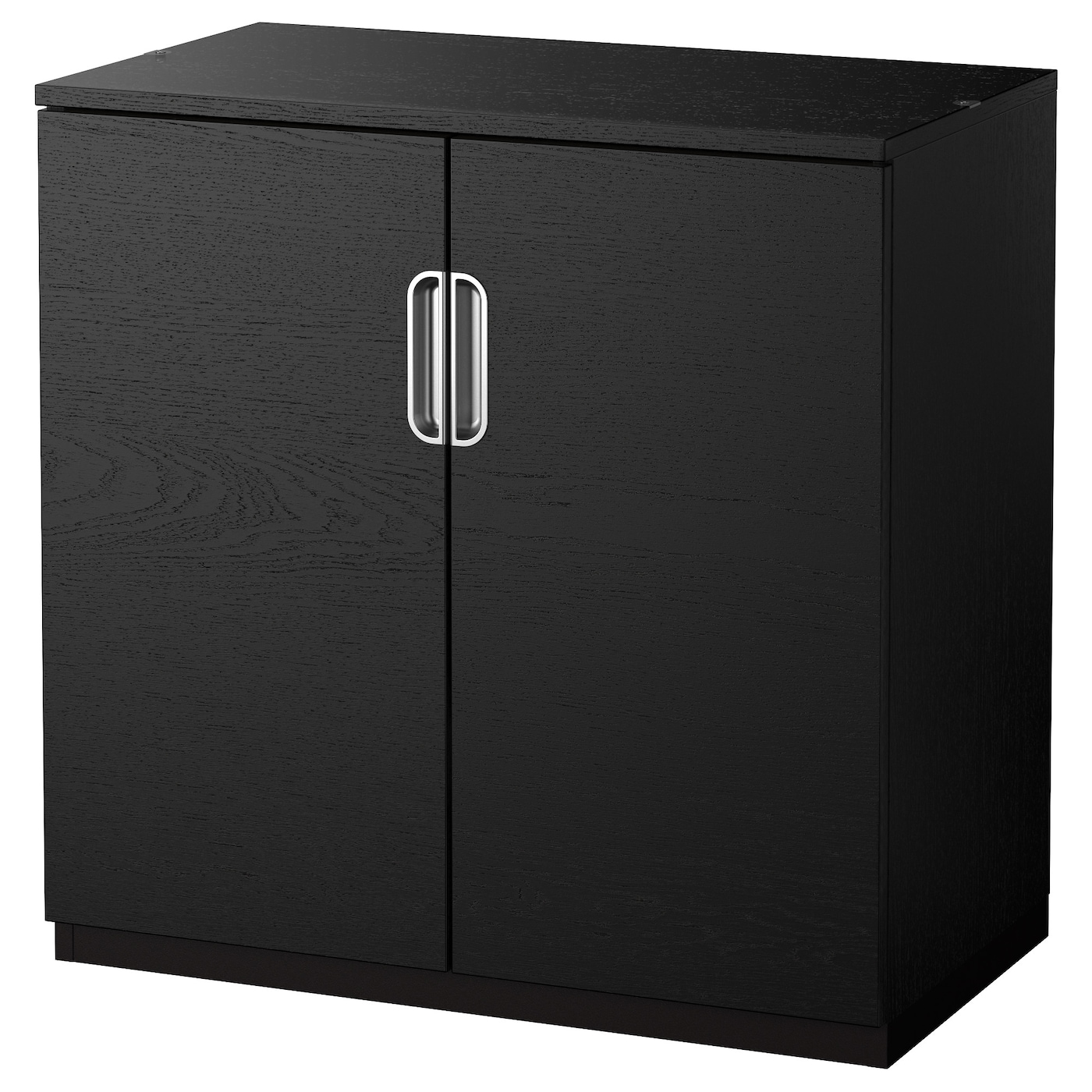 Galant cabinet with doors black brown 80x80 cm ikea for Black cabinet with doors