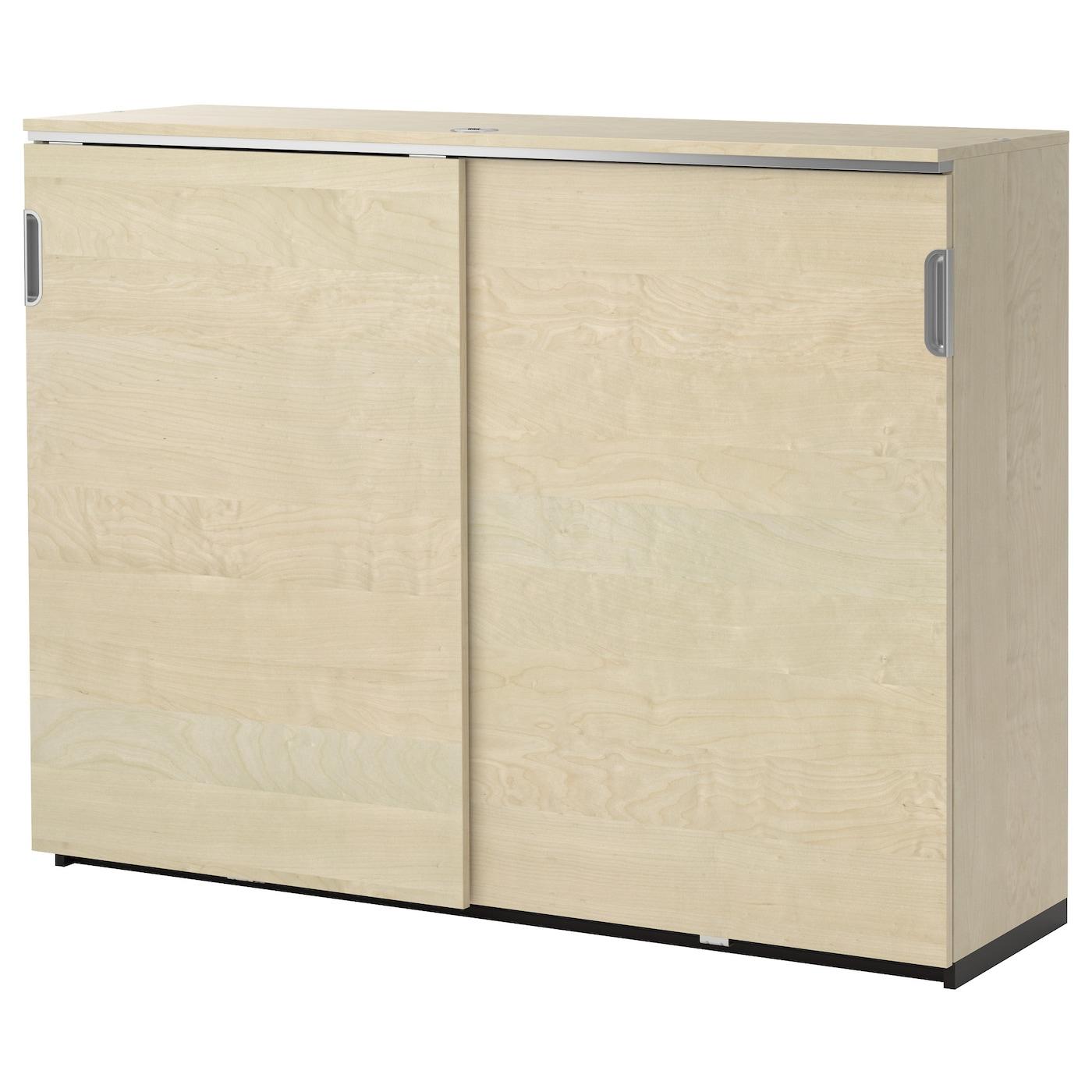 Galant Cabinet With Sliding Doors Birch Veneer 160x120 Cm