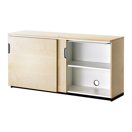 galant cabinet with sliding doors birch veneer 160x80 cm