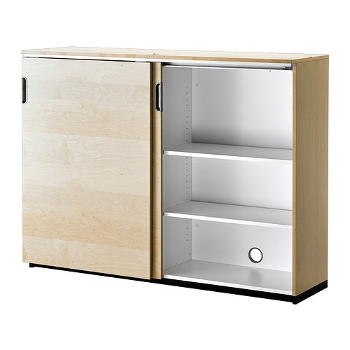 IKEA GALANT Cabinet With Sliding Doors Integrated Damper Makes Doors