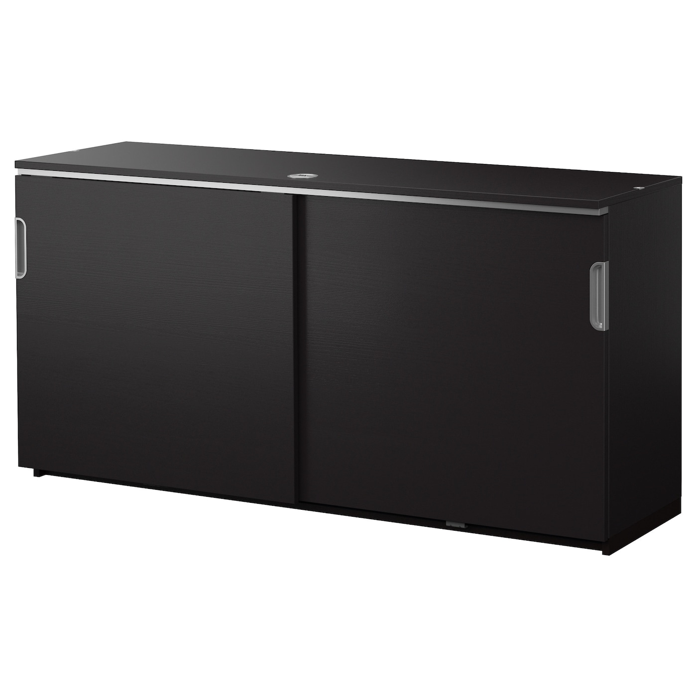 Galant Cabinet With Sliding Doors Black Brown 160x80 Cm Ikea