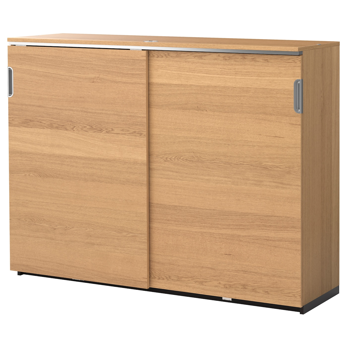 Galant Cabinet With Sliding Doors Oak Veneer 160x120 Cm Ikea