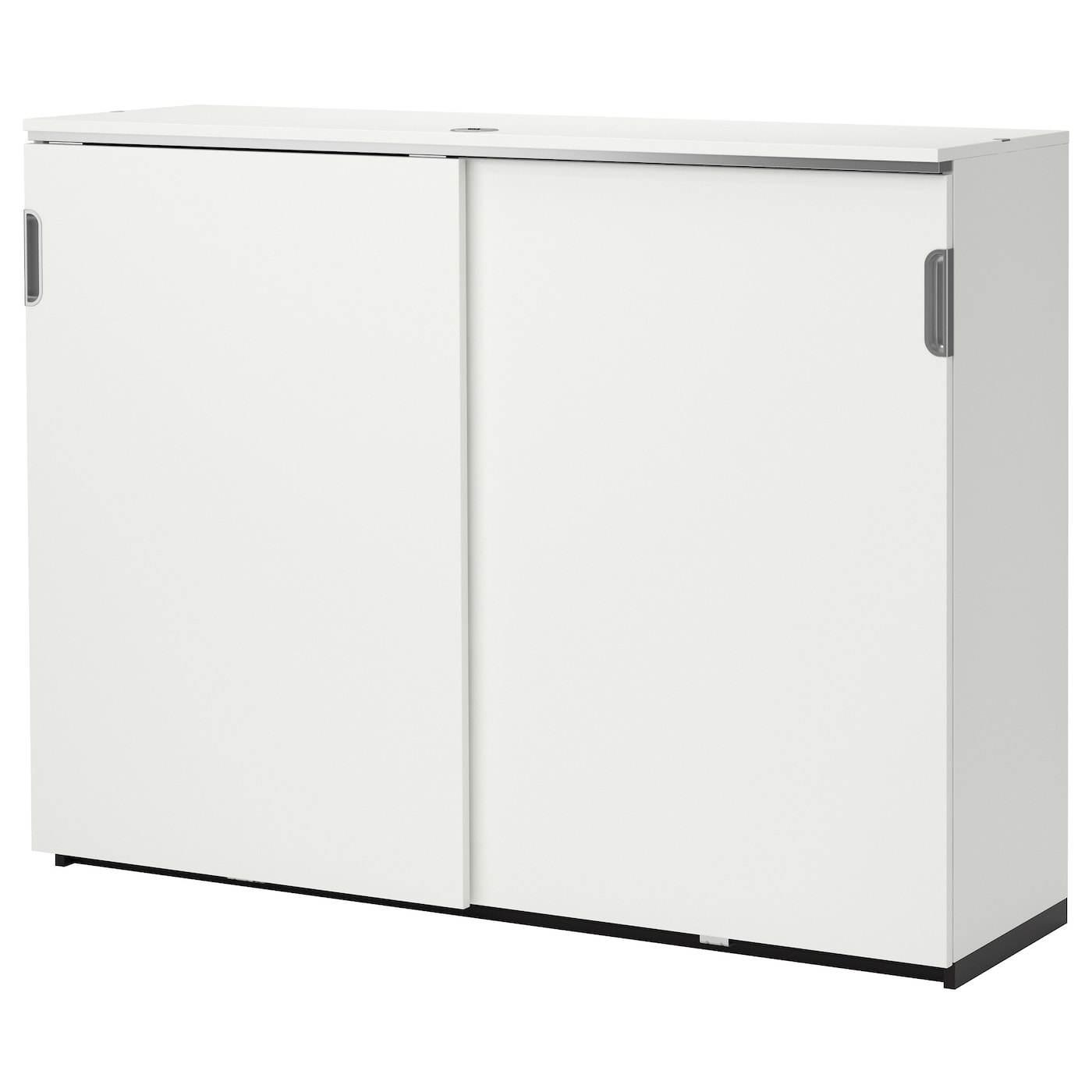Galant Cabinet With Sliding Doors White 160x120 Cm Ikea