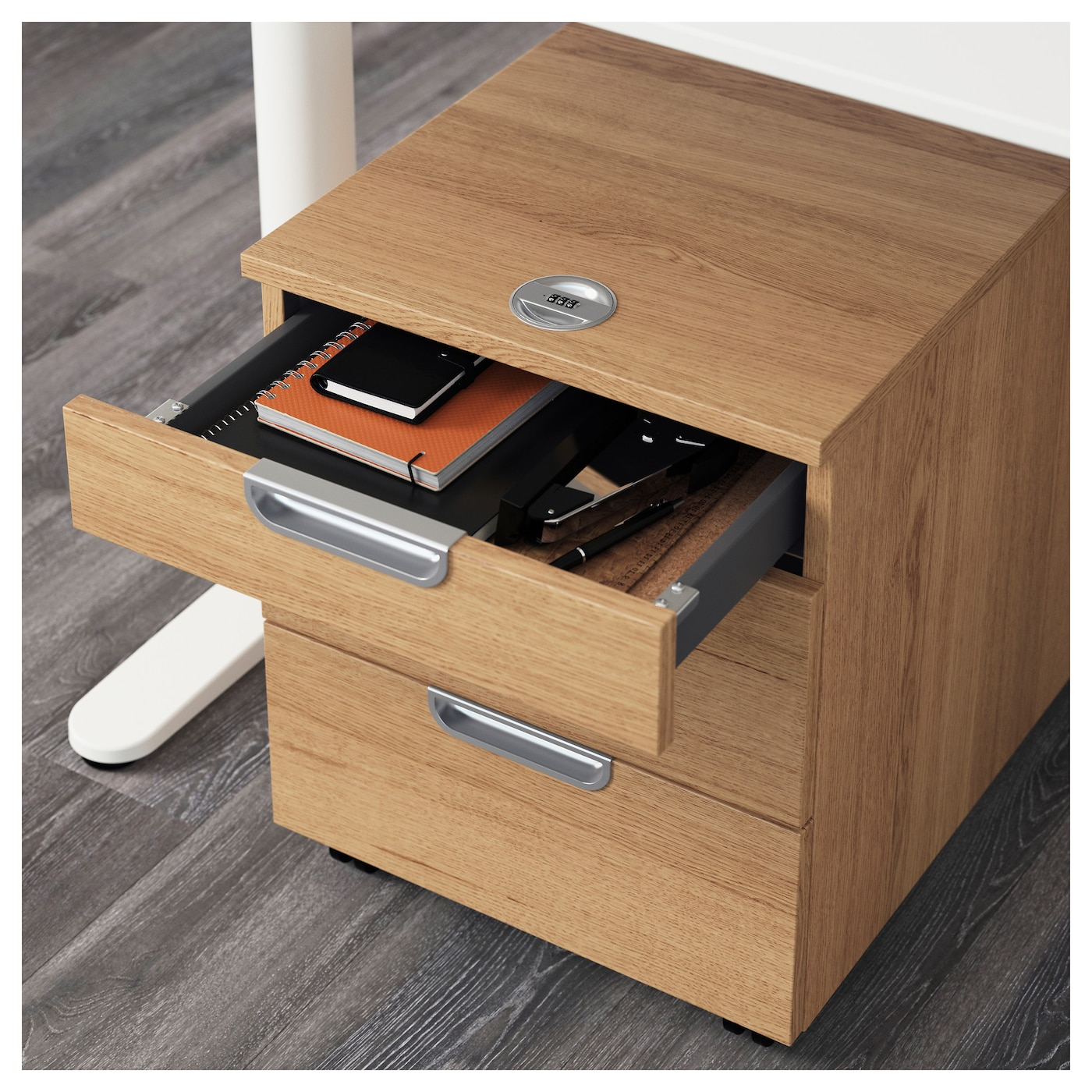 IKEA GALANT drawer unit on castors Drawers with integrated damper for silent and gentle closing.