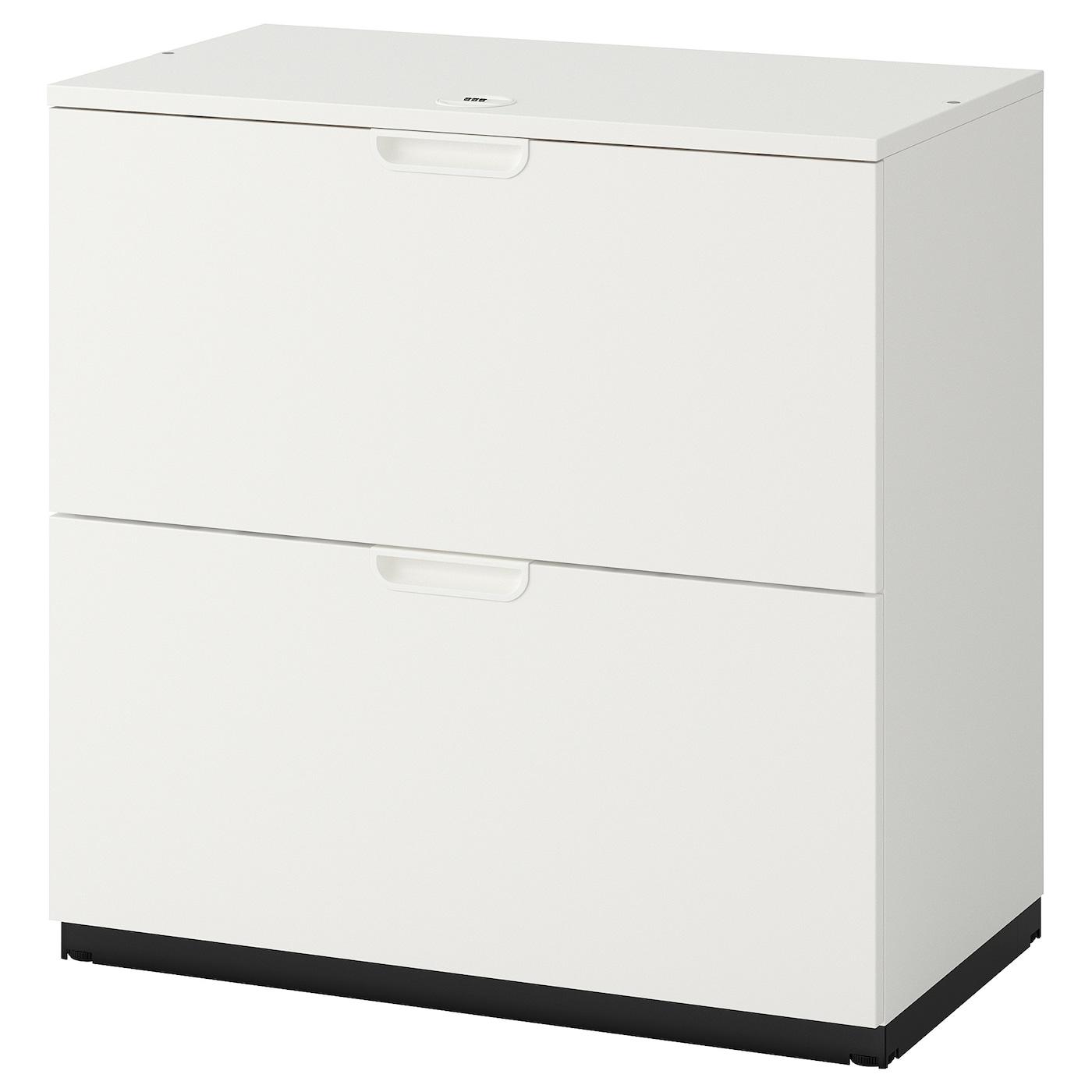 Beech Side Filing Unit2 DrawerLockable Units
