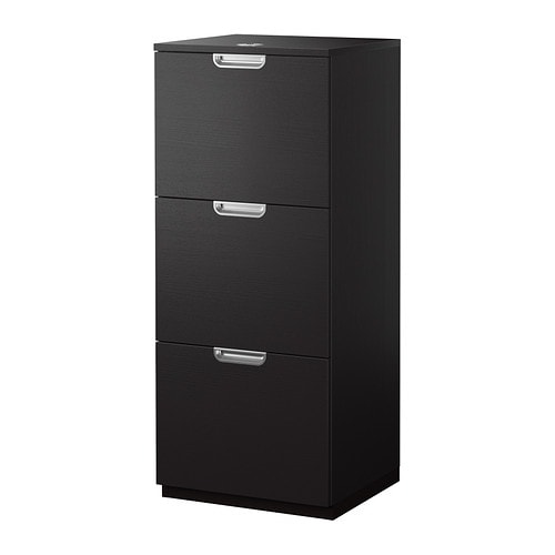 galant file cabinet black brown 51x120 cm ikea. Black Bedroom Furniture Sets. Home Design Ideas