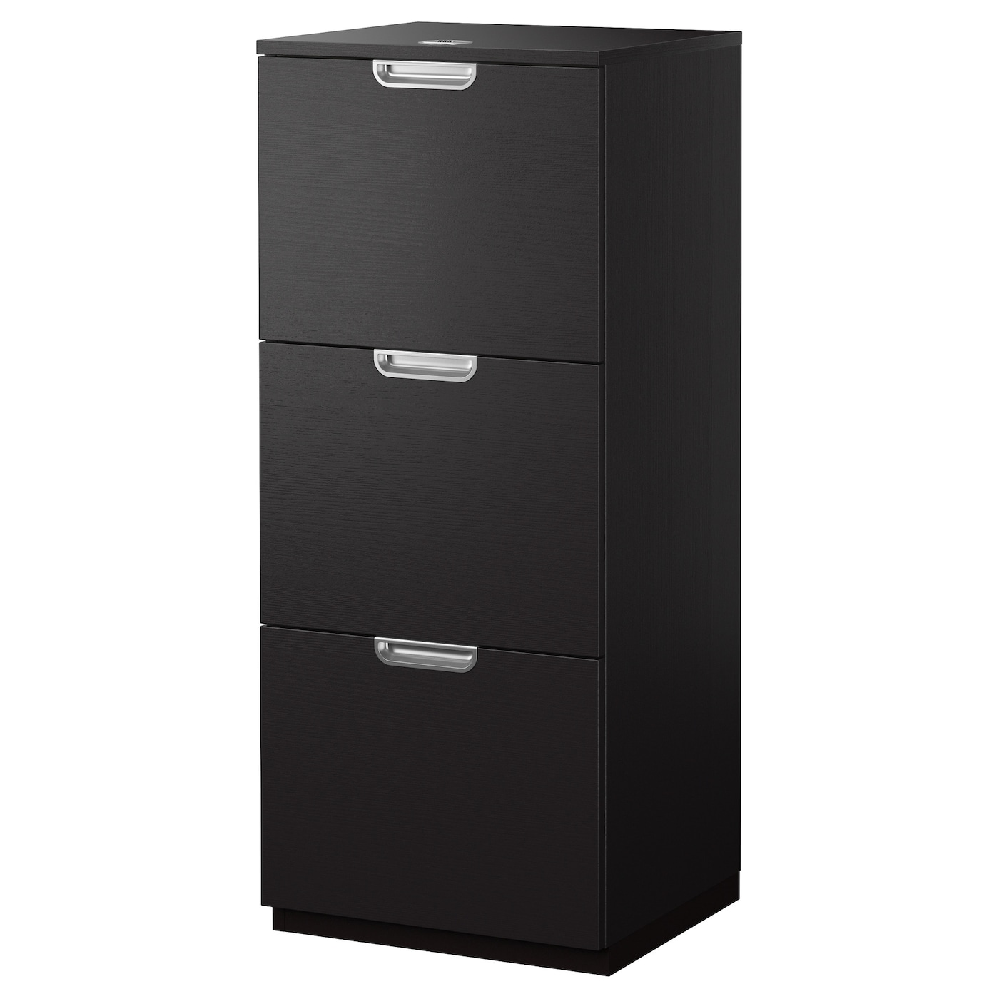 galant file cabinet black brown 51x120 cm ikea