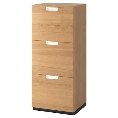GALANT File cabinet, oak veneer, 51x120 cm