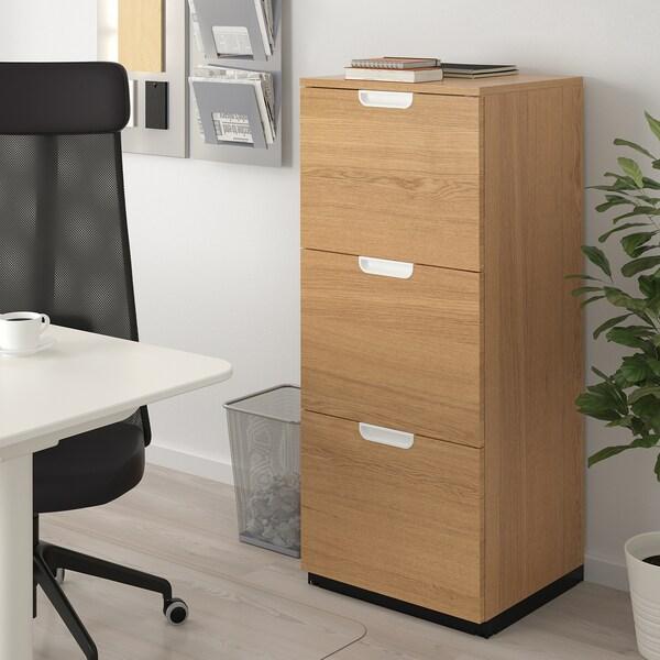 Galant Oak Veneer File Cabinet 51x120