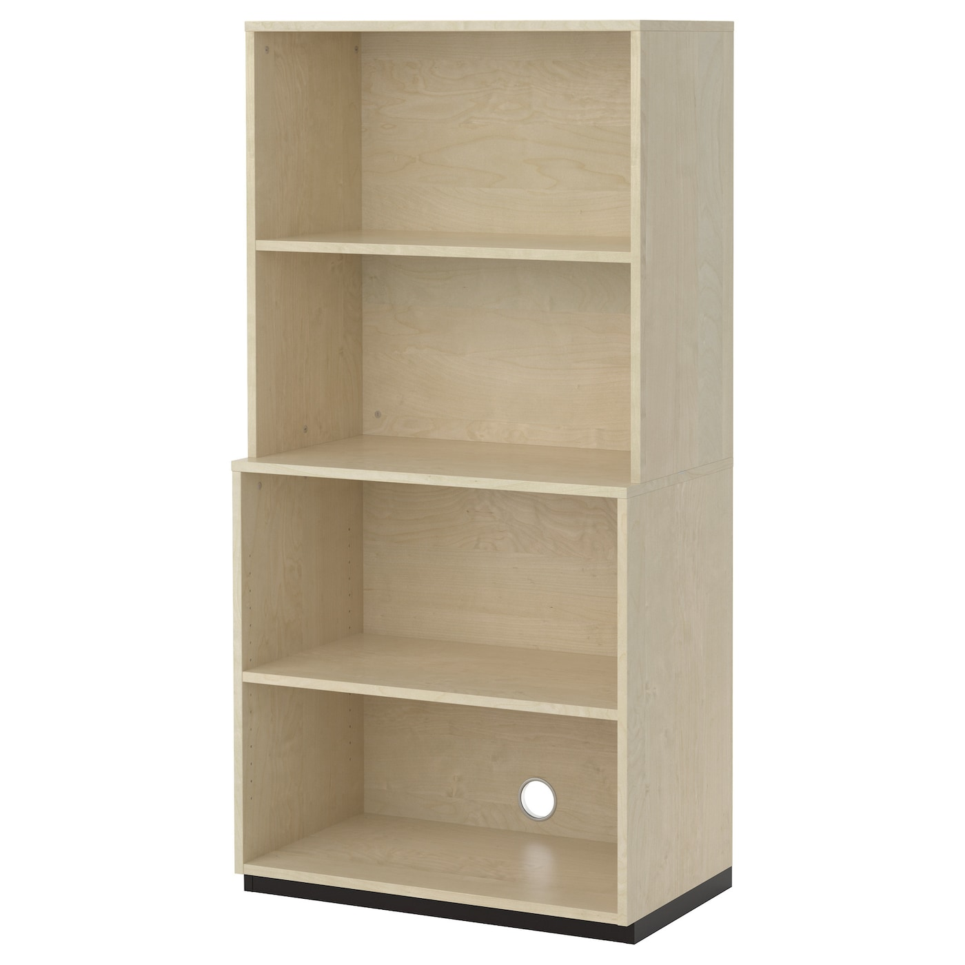 Galant Open Storage Combination Birch Veneer 80x160 Cm Ikea