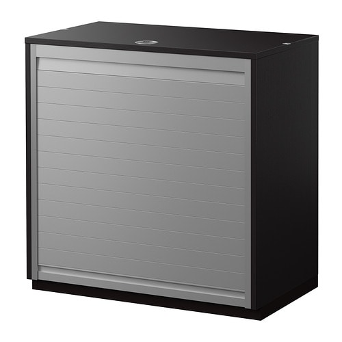 galant roll front cabinet black brown 80x80 cm ikea. Black Bedroom Furniture Sets. Home Design Ideas