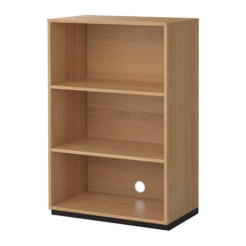 Galant shelf unit oak veneer 80x120 cm ikea for Table 80x120