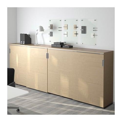 Ikea Udden Spülentisch Gebraucht ~ GALANT Storage combination w sliding doors Birch veneer 320×120 cm
