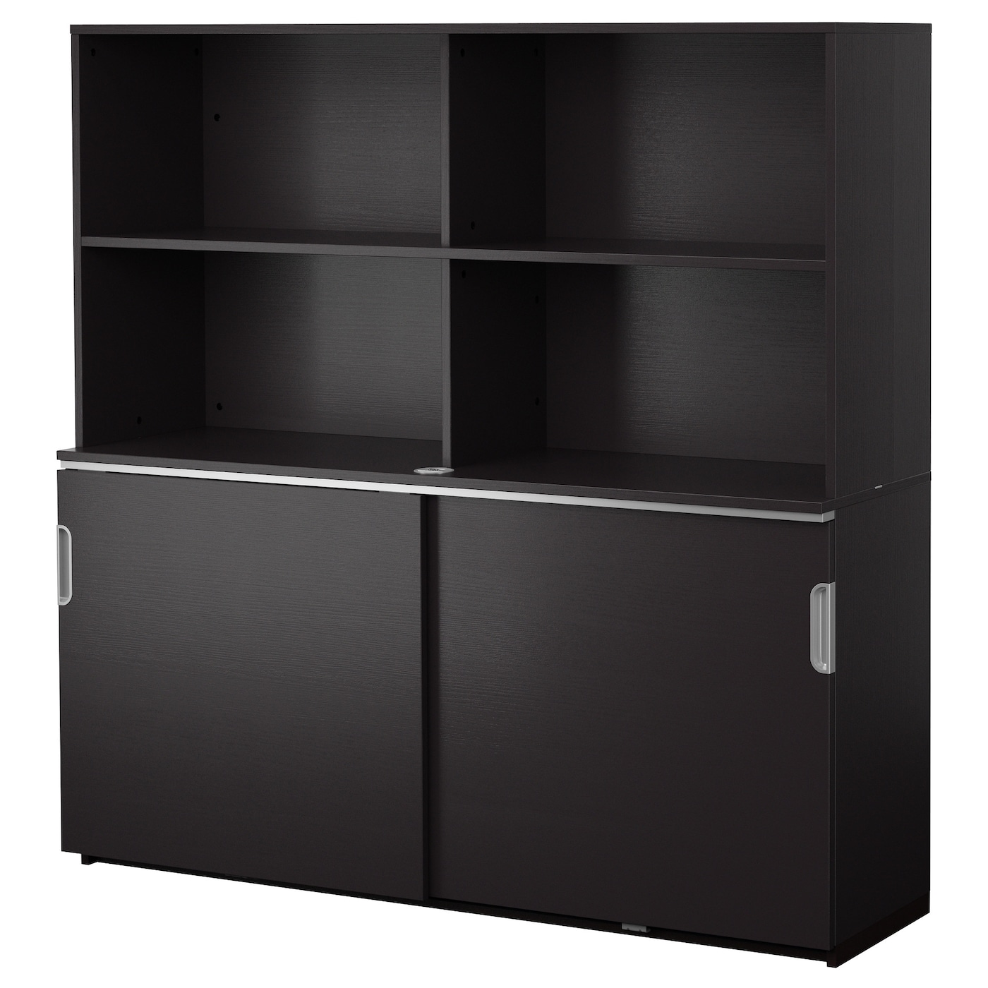 galant storage combination w sliding doors black brown 160x160 cm ikea. Black Bedroom Furniture Sets. Home Design Ideas