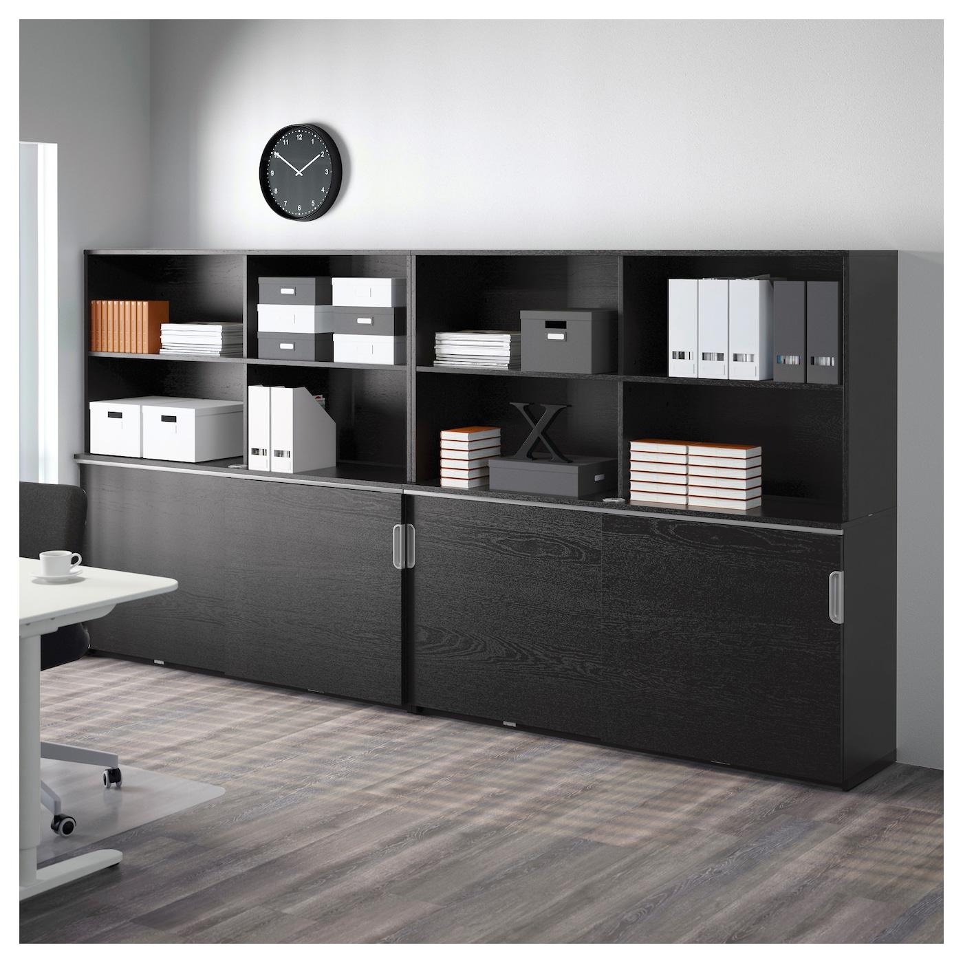 galant storage combination w sliding doors black brown 320 x 160 cm ikea. Black Bedroom Furniture Sets. Home Design Ideas