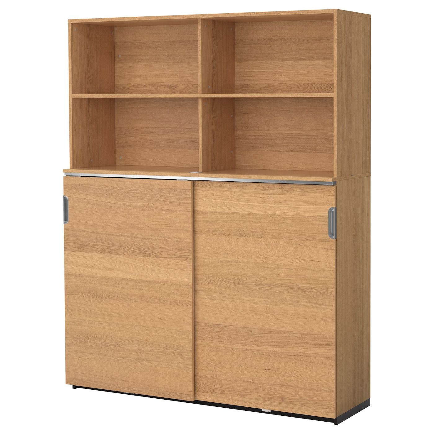 galant storage combination w sliding doors oak veneer
