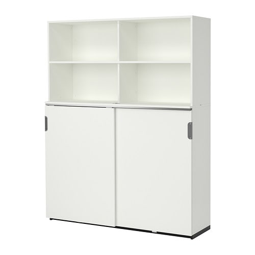 galant storage combination w sliding doors white 160x200 cm ikea. Black Bedroom Furniture Sets. Home Design Ideas