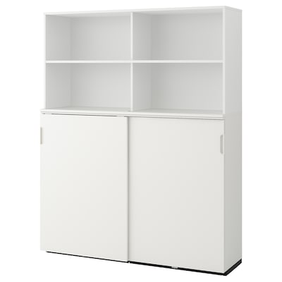 GALANT storage combination w sliding doors white 160 cm 45 cm 200 cm 30 kg
