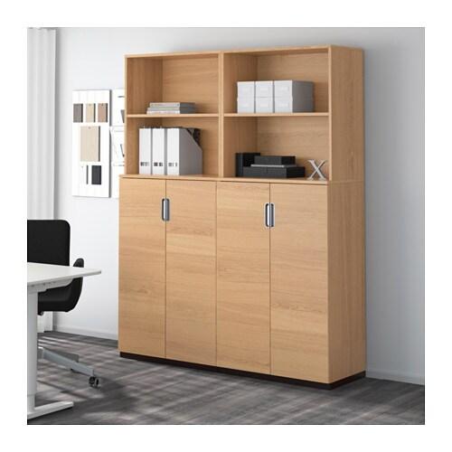 galant storage combination with doors oak veneer 160x200 cm ikea. Black Bedroom Furniture Sets. Home Design Ideas