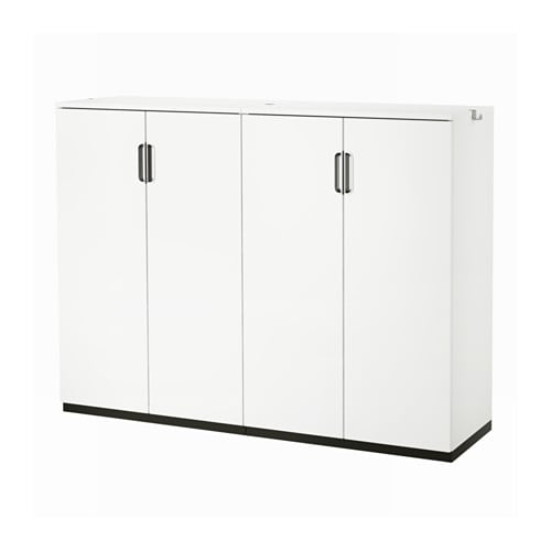 IKEA GALANT storage combination with doors Integrated damper makes doors close silently and gently.