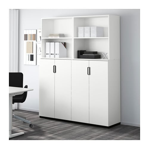 galant storage combination with doors white 160x200 cm ikea. Black Bedroom Furniture Sets. Home Design Ideas