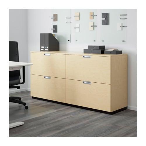 galant storage combination with filing birch veneer 160x80 cm ikea. Black Bedroom Furniture Sets. Home Design Ideas