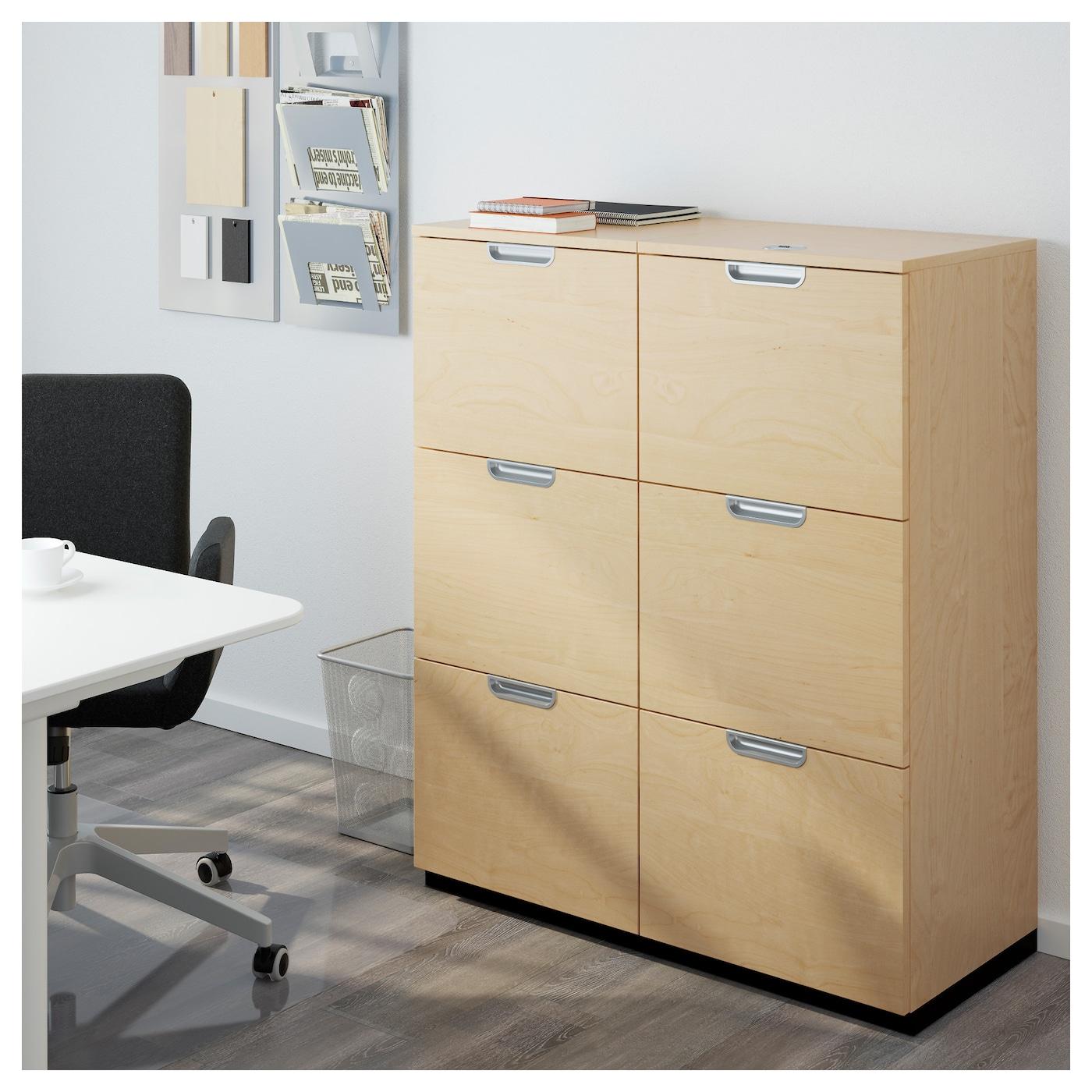 Galant storage combination with filing birch veneer for Birch veneer kitchen cabinets