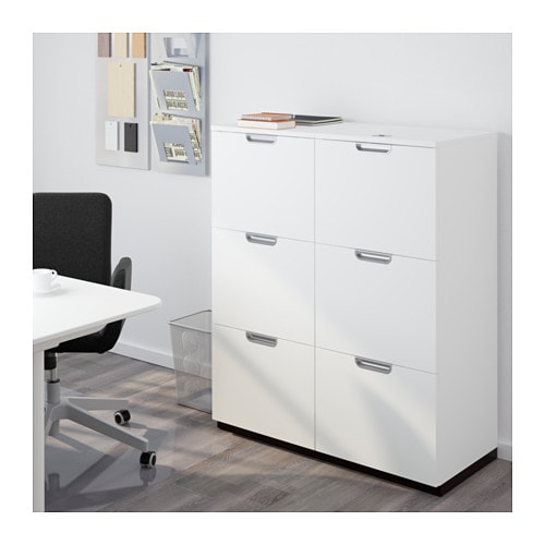 Ikea Gardinen Deckenbefestigung ~ GALANT Storage combination with filing White 102×120 cm  IKEA