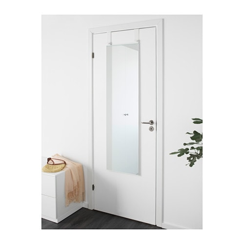 Garnes over the door mirror white 38x155 cm ikea for Porte miroir ikea