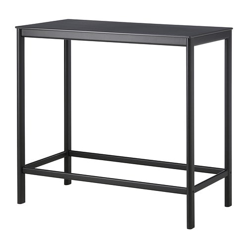 GARPEN Bar table IKEA Rustproof aluminium frame; both sturdy and lightweight.  The materials in this outdoor furniture require no maintenance.