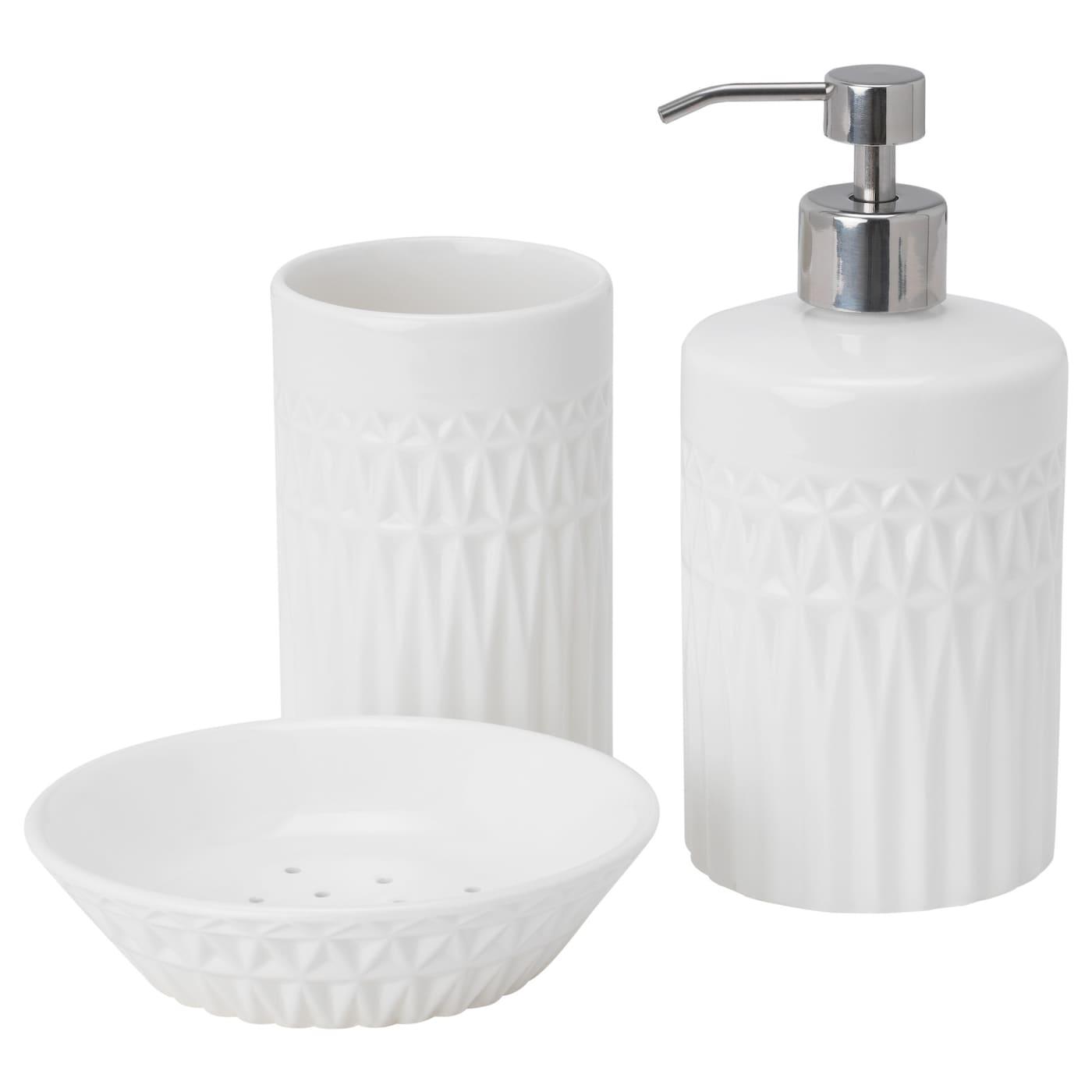 GAVIKEN 5-piece bathroom set - white