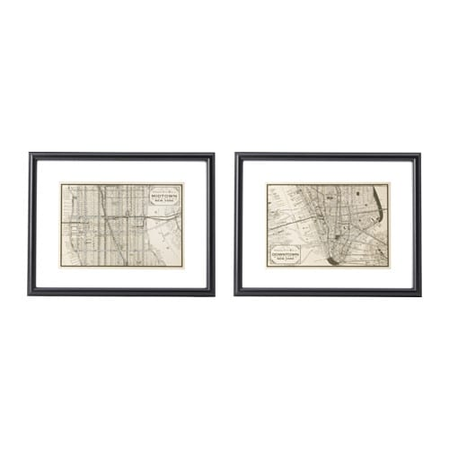 GEMLA Picture Set Of 2 Black 40x30 Cm IKEA