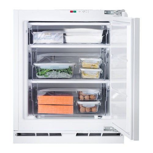 Genomfrysa integrated freezer a white 91 l ikea for Ikea chest freezer