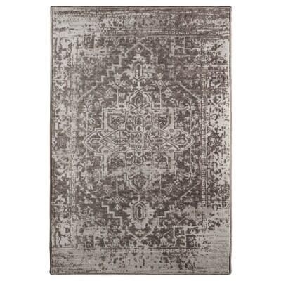GERLEV Rug, low pile, patterned/grey, 133x195 cm