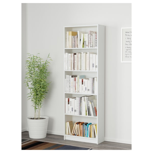 GERSBY Bookcase, white, 60x180 cm