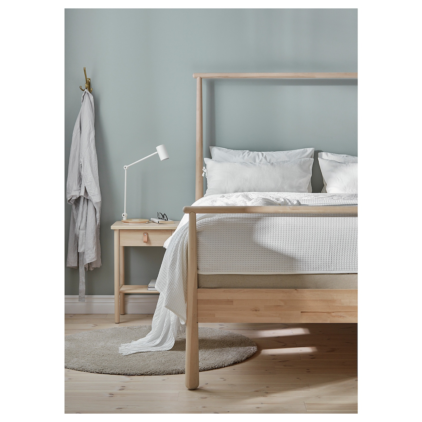 IKEA GJÖRA bed frame Use the low end as a headboard or the other way around. You choose!