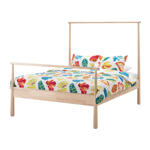 IKEA GJÖRA bed frame Made of solid wood, which is a hardwearing and warm natural material.